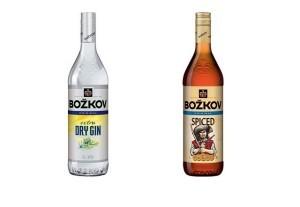 Božkov Dry Gin a Božkov Spiced