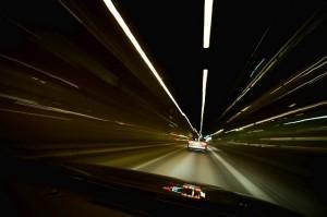 Vozovka ve tmě