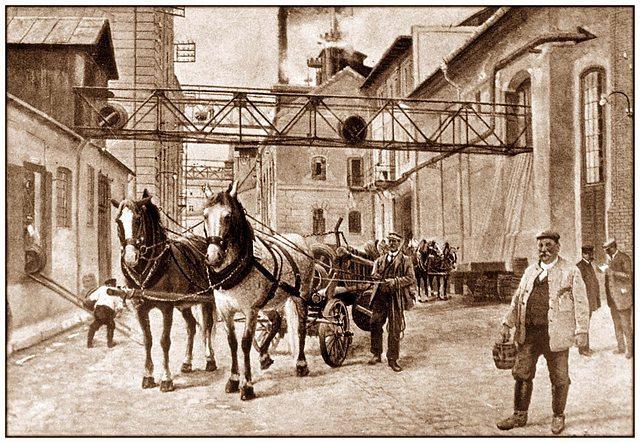 Smíchovský pivovar - historické foto
