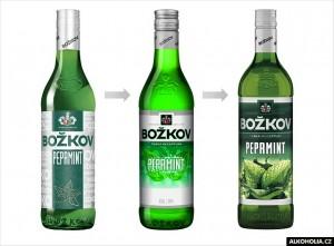 Božkov Peprmint - Vývoj designu lahve